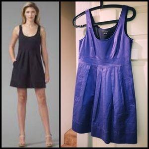 THEORY Babydoll Mini dress blue satiny 2